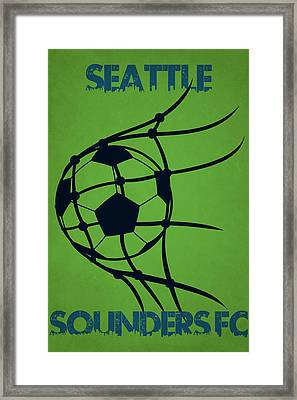 Seattle Sounders Fc Goal Framed Print by Joe Hamilton