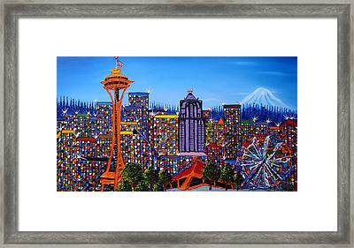 Seattle Space Needle #6 Framed Print by Portland Art Creations