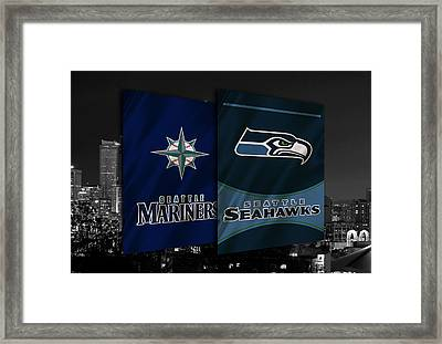 Seattle Sports Teams Framed Print by Joe Hamilton