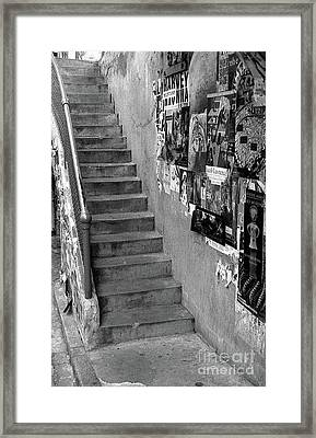 Seattle Stairs Framed Print