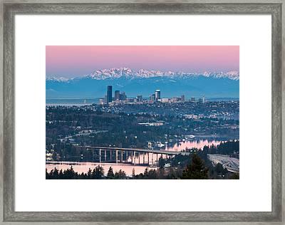 Seattle Sunrise Framed Print by Thorsten Scheuermann
