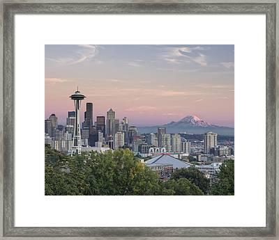 Seattle Sunset Framed Print by Kyle Wasielewski