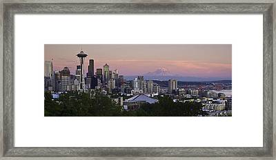 Seattle Sunset - Kerry Park Framed Print