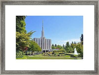 Seattle Temple - Horizontal Framed Print