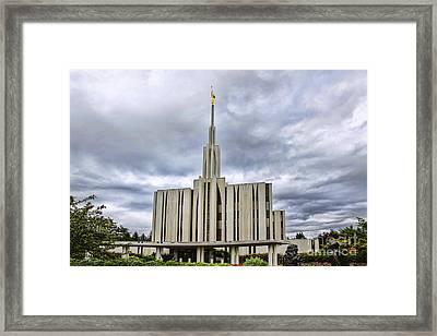 Seattle Temple Framed Print
