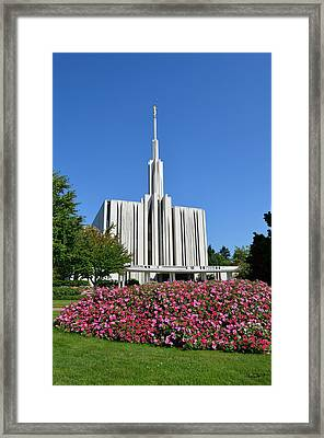 Seattle Temple Framed Print