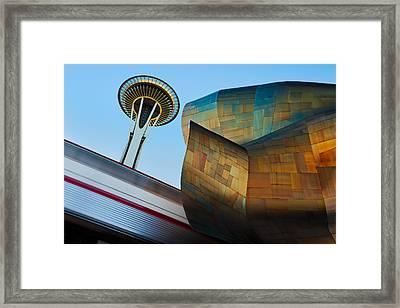 Seattle Trifecta Framed Print by Thorsten Scheuermann