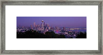 Seattle Wa Usa Framed Print by Panoramic Images