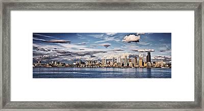 Seattle Washington - Skyline 4 Framed Print