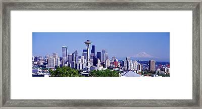 Seattle, Washington State, Usa Framed Print