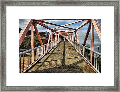 Framed Print featuring the photograph Seattle Waterfront Bridge by Bob Noble Photography