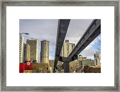 Seattle's 5th Avenue Monorail Framed Print