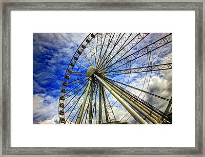 Seattle's Great Wheel Framed Print