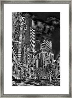Seattle's Old And New Framed Print by David Patterson