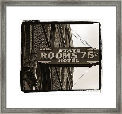 Seattle's Pioneer Square - Historic State Hotel Framed Print