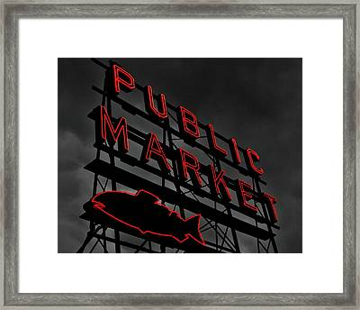 Seattle's Public Market Framed Print by Benjamin Yeager