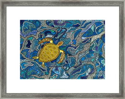 Sea Turtle Impression Framed Print by Andreas Berthold