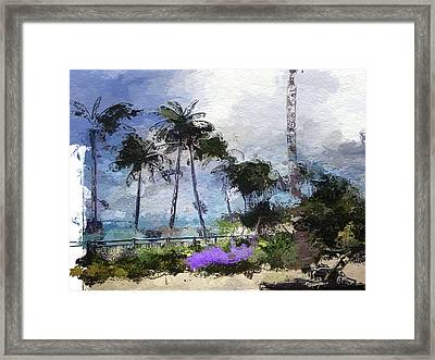 Seaview Terrace Framed Print by Anthony Fishburne