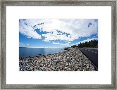 Framed Print featuring the photograph Seawall - Acadia by Kirkodd Photography Of New England