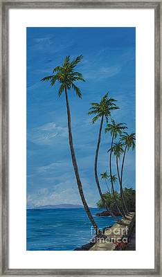 Seawall Palms Framed Print by Darice Machel McGuire