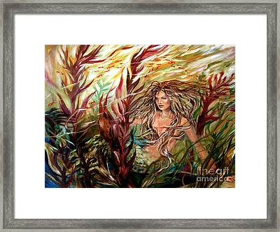 Seaweed Mermaid Framed Print