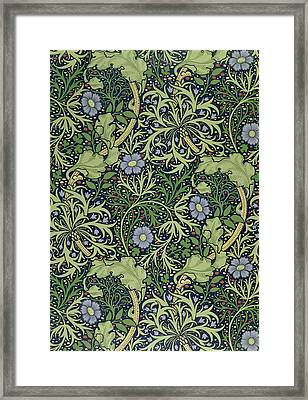 Seaweed Wallpaper Design Framed Print by William Morris