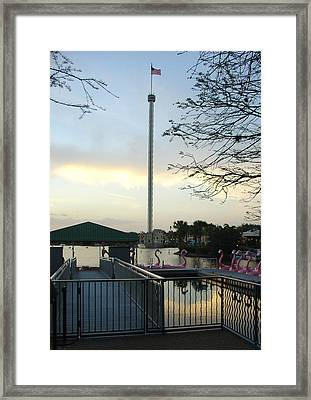 Framed Print featuring the photograph Seaworld Skytower by David Nicholls