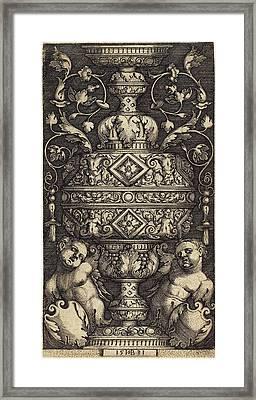 Sebald Beham German, 1500 - 1550, Double Goblet Framed Print by Quint Lox