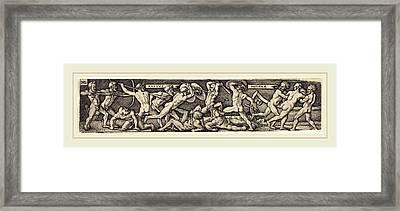 Sebald Beham German, 1500-1550, The Rape Of Helena Framed Print