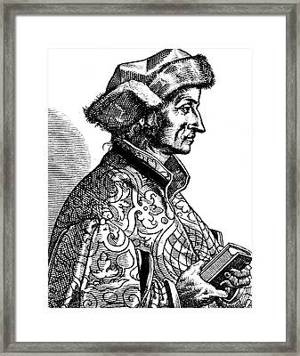 Sebastian Brant Framed Print by Collection Abecasis