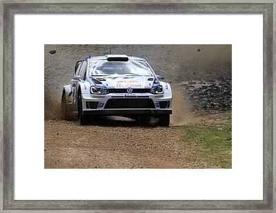 Sebastian Ogier Fia World Rally Championship Australia Framed Print