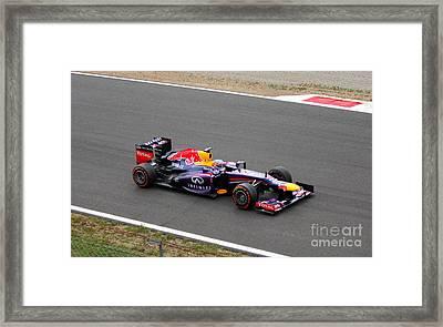 Sebastian Vettel Framed Print by David Grant