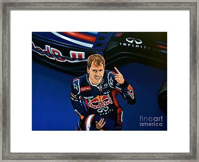 Sebastian Vettel Framed Print by Paul Meijering