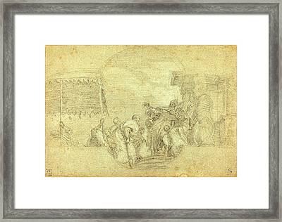 Sebastiano Conca, Italian 1680-1764, A Bishop Blessing Framed Print