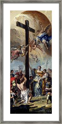Sebastiano Ricci, The Exaltation Of The True Cross Framed Print by Litz Collection