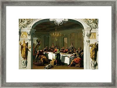 Sebastiano Ricci, The Last Supper, Italian Framed Print by Litz Collection