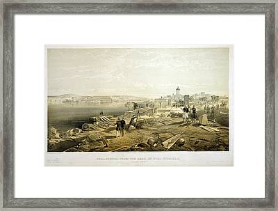 Sebastopol From The Rear Of Fort Nicholas, Looking South Framed Print