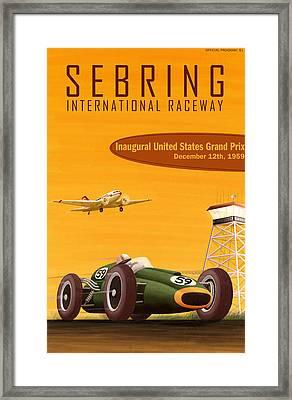 Sebring Usa Grand Prix 1959 Framed Print by Georgia Fowler