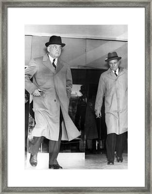 Sec. State John Foster Dulles Framed Print by Underwood Archives