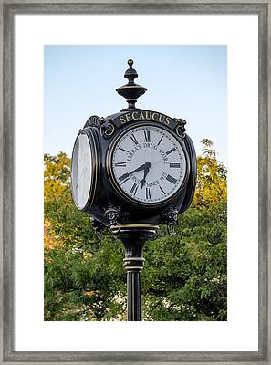 Secaucus Clock Marras Drugs Framed Print