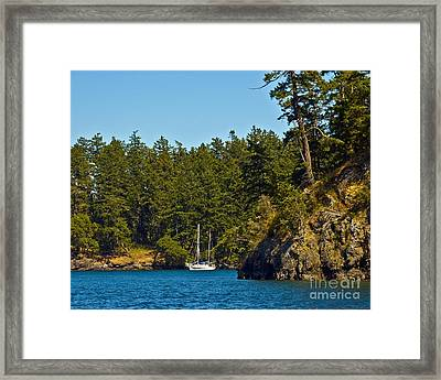 Secluded Anchorage Framed Print by Chuck Flewelling
