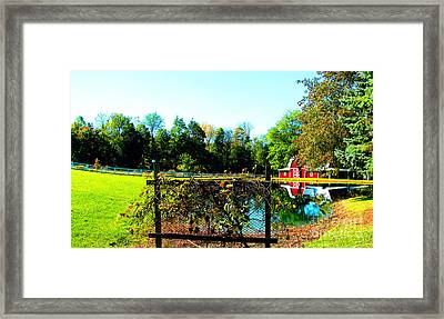 Secluded And Secure Framed Print by Tina M Wenger