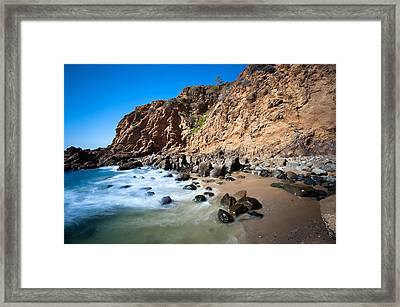 Secluded Beach Cove Framed Print