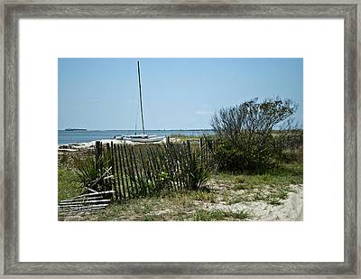 Framed Print featuring the photograph Secluded Beach Wat 157 by G L Sarti