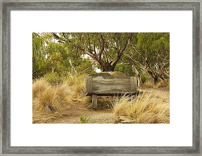 Secluded Bench Framed Print