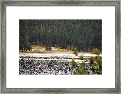 Framed Print featuring the photograph Secluded Cabin by Mary Carol Story