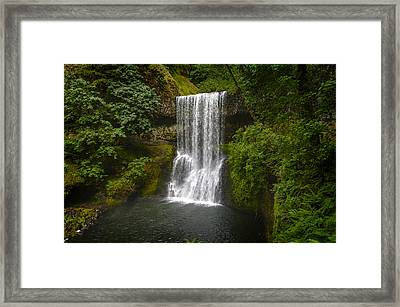 Secluded Falls Framed Print