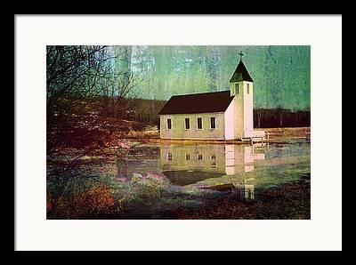 Light Grey Turquoise Framed Prints