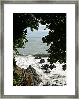 Secluded Shore Framed Print by Michelle Wiarda
