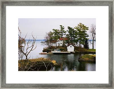 Seclusion On The Saint-laurent Framed Print